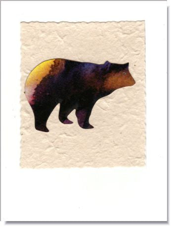 Bear handmade greeting card