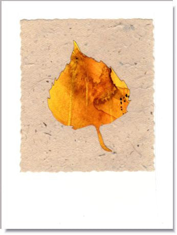 Aspen Leaf handmade greeting card