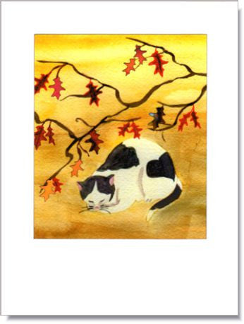 Napping Cat Greeting Card ~ 1270