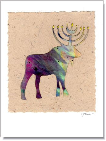 Menorah Moose Greeting Card ~ 346