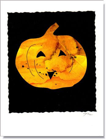 Halloween Pumpkin Greeting Card ~ 419