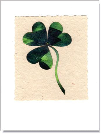 Shamrock Greeting Card ~ 466