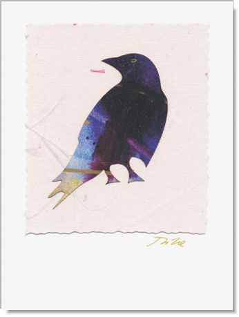 Crow Greeting Card ~ 516