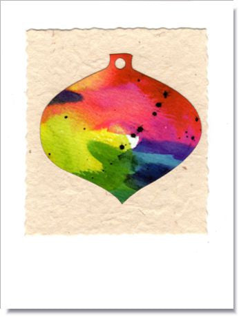 Christmas Tree Ornament Greeting Card ~ 517