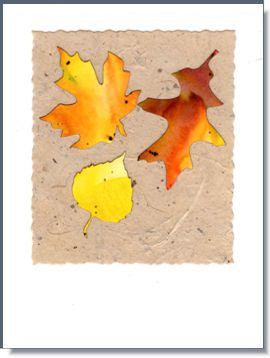 Fall Leaves Handmade Greeting Card ~ 552
