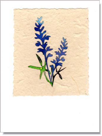 Blue-bonnet handmade greeting card
