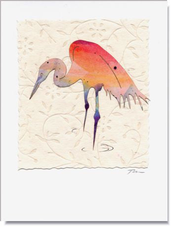 Heron Greeting Card ~ 590