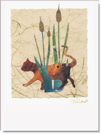 Cat Tails Handmade Greeting Card ~ 623