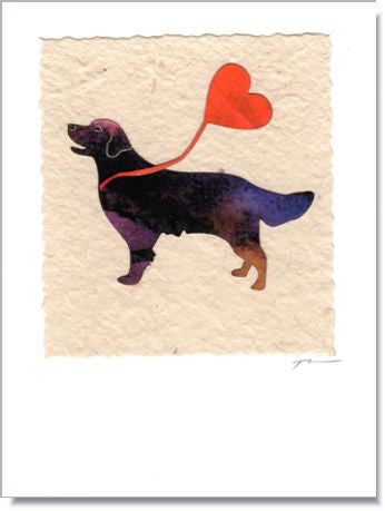 Valentine Dog Greeting Card ~ 650