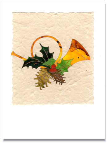 Holiday Horn Greeting Card ~ 665