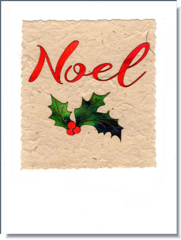 Noel and Holly Greeting Card ~ 676