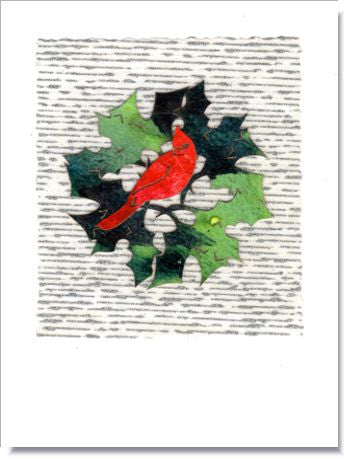 Holiday Wreath Greeting Card ~ 688