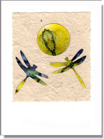 Dragonflies and Heart Greeting Card ~ 698
