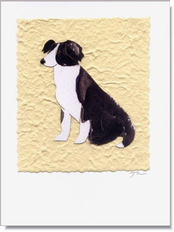Black and White Dog Greeting Card ~ 703