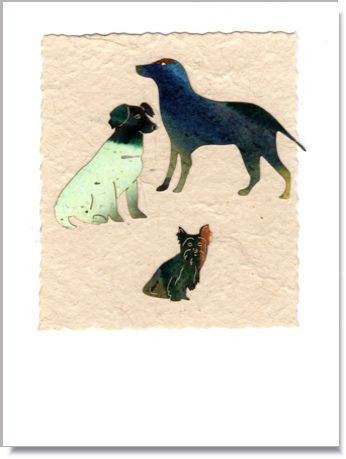 Three Dogs Greeting Card ~ 705