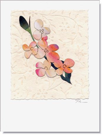 Apple Blooms Handmade Greeting Card ~ 706