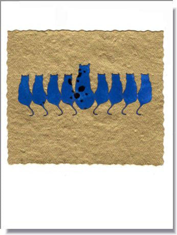 Cat Menorah Greeting Card ~ 709