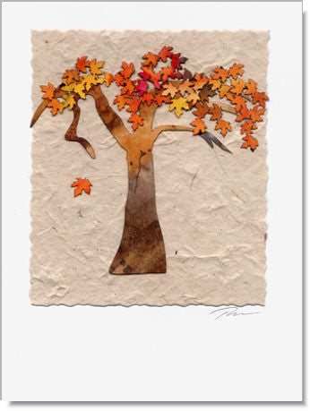 Fall Tree Handmade Greeting Card ~ 711