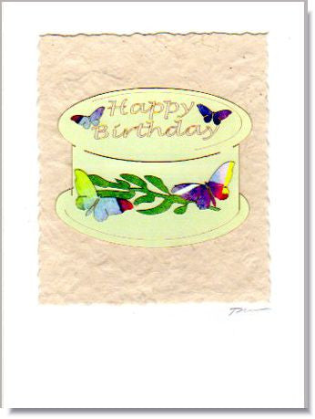 Birthday Cake Greeting Card ~ 715