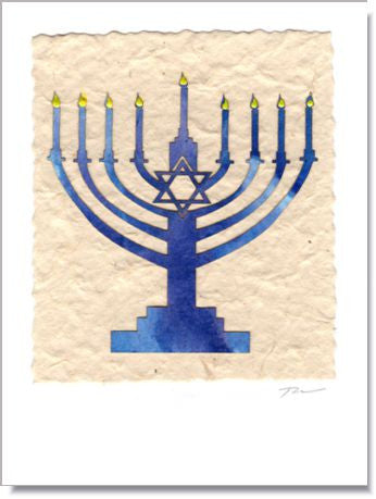 Menorah III greeting card