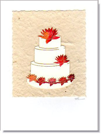 Wedding Cake Greeting Card ~ 733