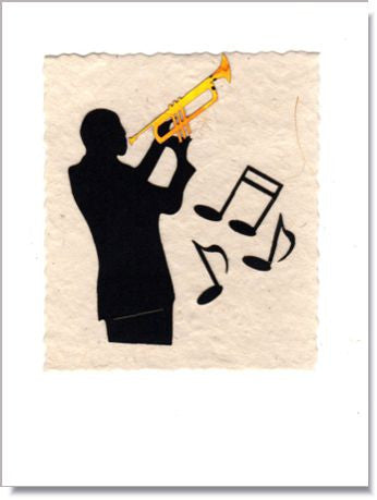 Trumpet Player Greeting Card  743