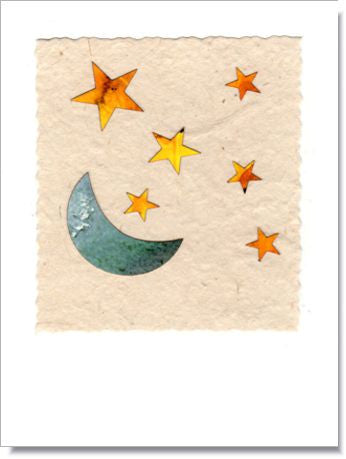 Moon and Stars Greeting Card ~ 744