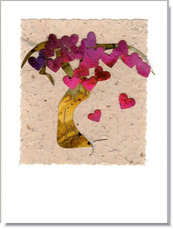 Heart Tree Handmade Greeting Card ~ 760