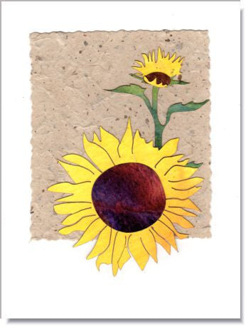 Sunflowers art greeting card