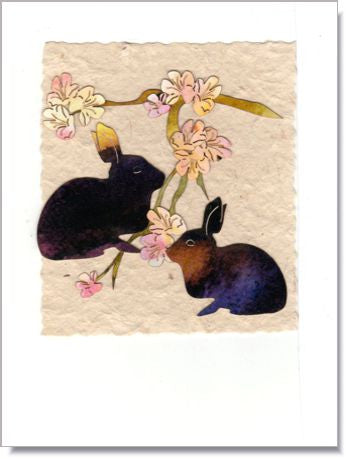 Bunnies Handmade Greeting Card