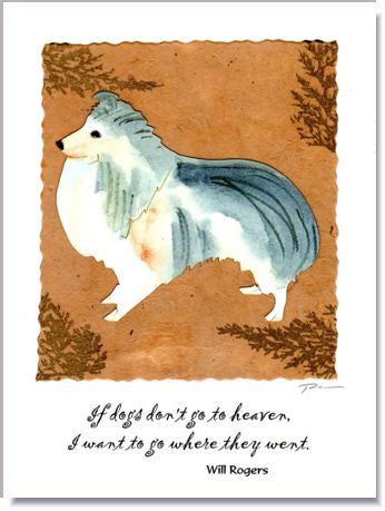 Sheltie Greeting Card ~ 792