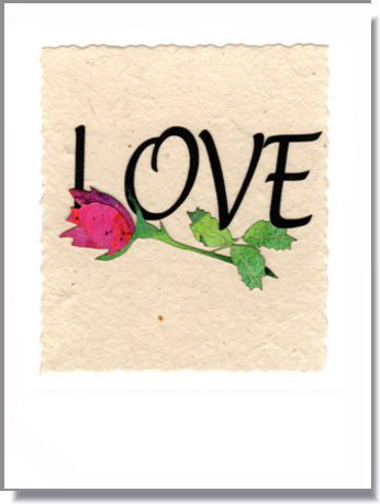 LOVE and a Rose Handmade Greeting Card ~ 809
