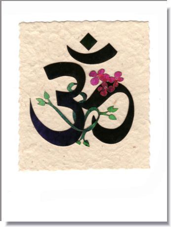 "New Age ""OM"" Handmade Greeting Card ~ 811"