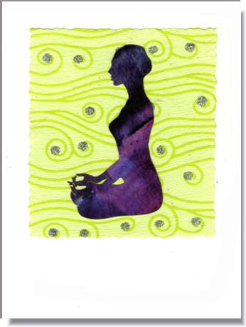 Meditation Handmade Greeting Card ~ 812
