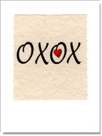 XOXO Greeting Card ~ 823
