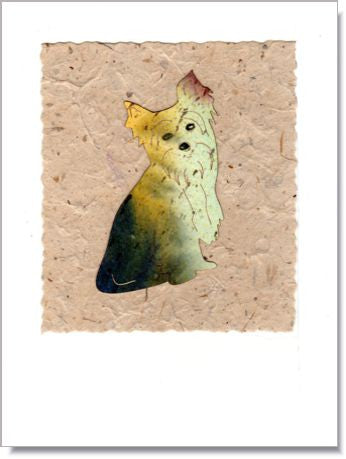 Yorkie Handmade Greeting Card ~ 834