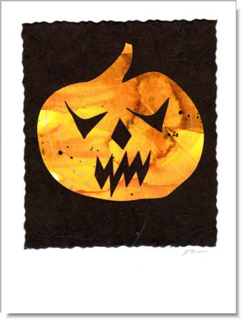 Scary Pumpkin Handmade Greeting Card ~ 836