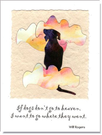 Heavenly Dog Handmade Greeting Card ~ 841