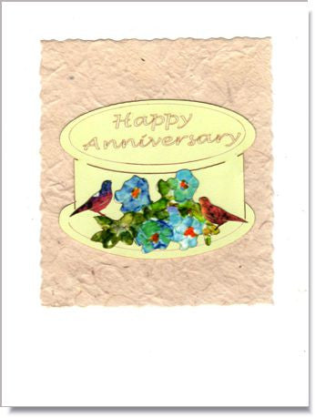 Happy Anniversary Cake Handmade Greeting Card ~ 845