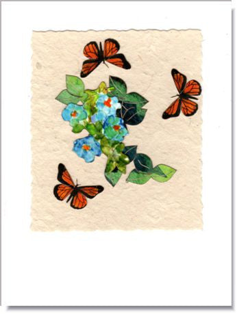 Forget-Me-Not with Butterflies card