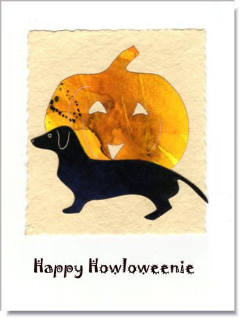 Howloweenie Dog Handmade Greeting Card ~ 872