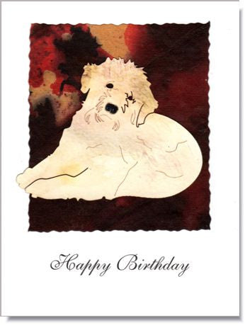 Terrier Handmade Greeting Card ~ 879
