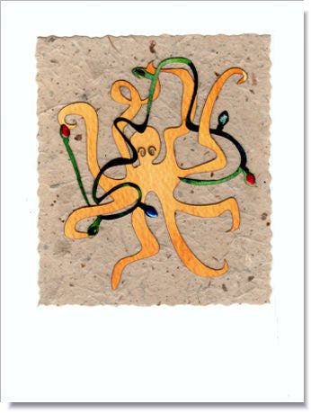 Octopus Greeting Card ~ 886