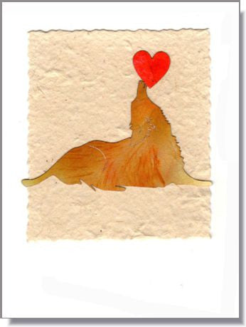 Golden Balancing Heart Handmade Greeting Card ~ 894