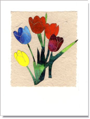Spring Tulips Handmade Greeting Card ~ 897