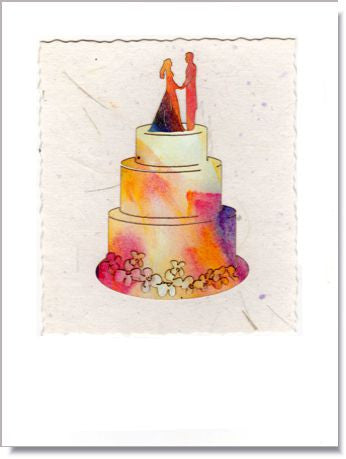 Wedding Cake Greeting Card ~ 903