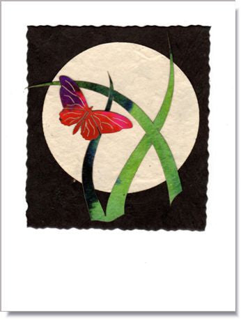Butterfly Moon Art Greeting Card