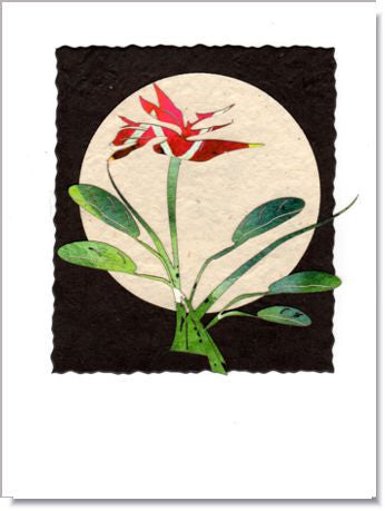 Bird of Paradise Moon Greeting Card ~ 918