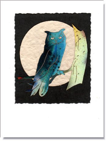 Owl Moon Handmade Greeting Card ~ 924