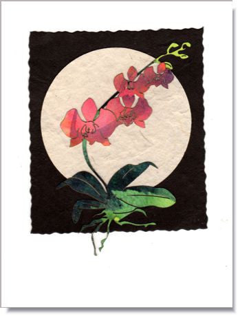 Orchid Moon Greeting Card ~ 939
